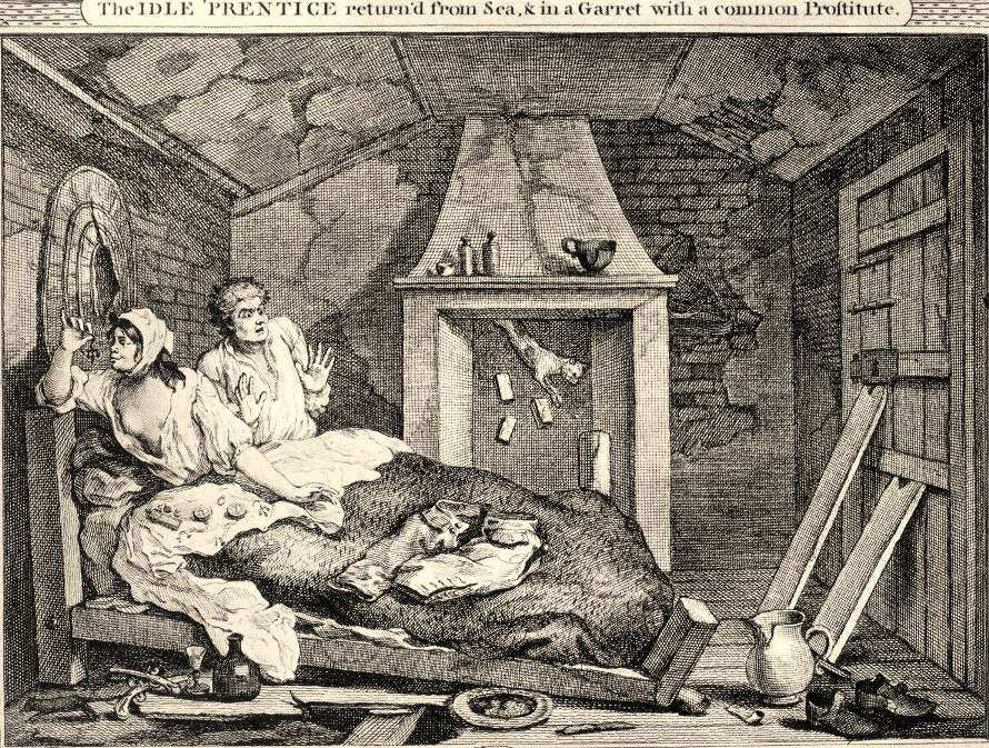 This was the more typical Brown Bess or Common Prostitute -  by William Hogarth 1747.