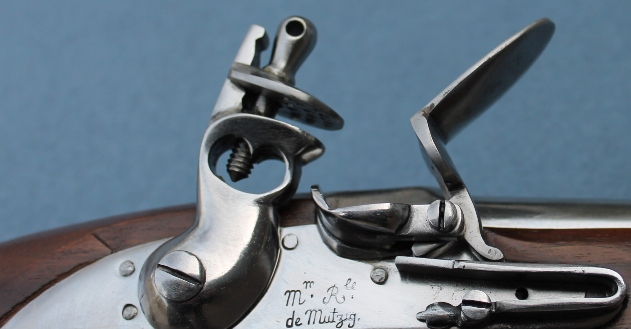French 1766 Cavalry Pistol used in the American Revolution