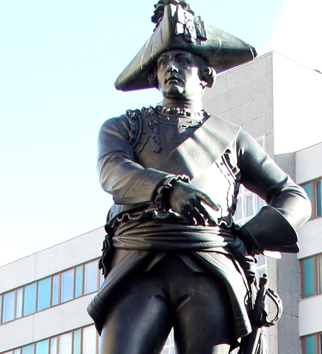 Bronze statue of Friedrich Wilhelm von Seydlitz with this sword in Berlin, Germany