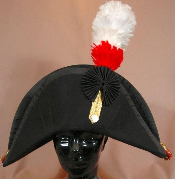 Bicorn Hat: Commissariat Chapeau 1837 For