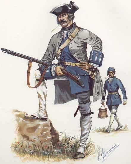 French And Indian War Provincial Uniforms Uniform of 1755-1757.