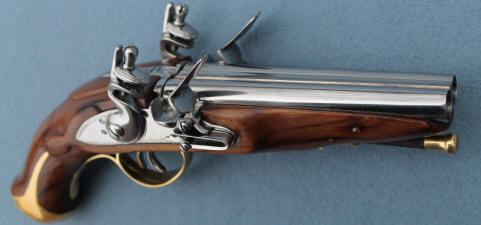 double barrel flintlock pirate pistol