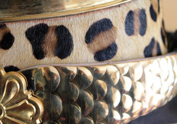 detail of French Dragoon helmet for sale Chin Scales