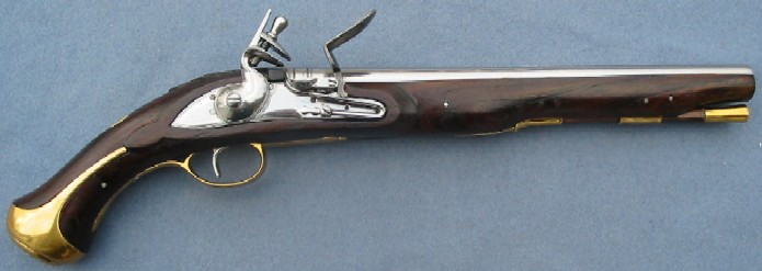 English Flintlock Dragoon Pistol