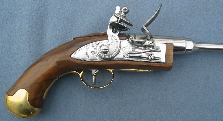 Early 19th Century Patent Flintlock Pistol for Igniting Cannons
