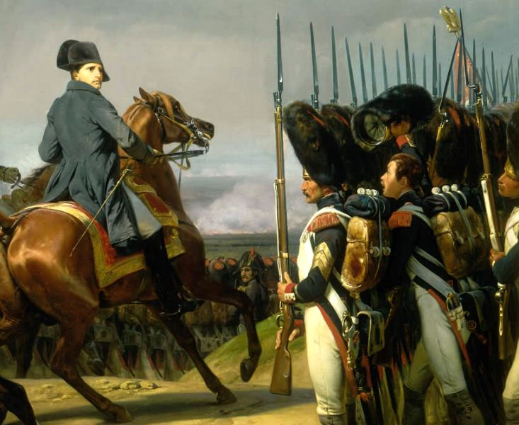 apoleon with the Imperial Guard at Jena in 1806 (by Horace Vernet)  Note the artist's attention to detail