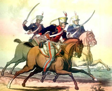Light Dragoons in India (left to right 22nd, 8th and 24th Regiments)