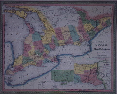 map 012 map of canada west formerly upper canada 1850