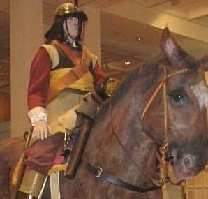 Royalist Roundhead at the Royal Armouries. Note the pistol in its holster.