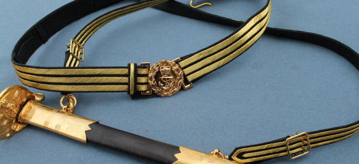 royal navy embroidered ceremonial admiral dress sword belt