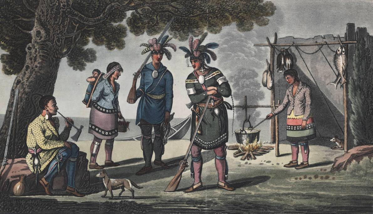 Woodland natives armed with the Northwest Fur Trade Muzzleloader